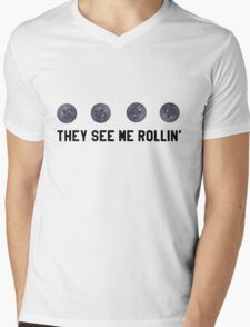 They See Me Rollin' Black Moon Emoji Trendy/Hipster/Tumblr Meme Mens V-Neck T-Shirt