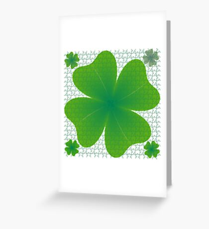 Clover puzzle Greeting Card