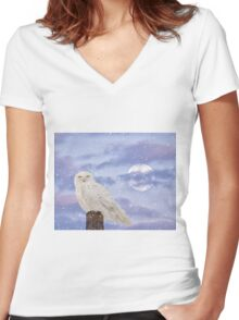 Winter solstice Women's Fitted V-Neck T-Shirt