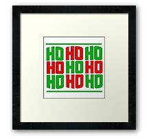 HO HO HO merry christmas  Framed Print