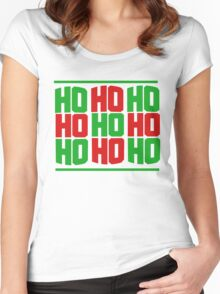 HO HO HO merry christmas  Women's Fitted Scoop T-Shirt