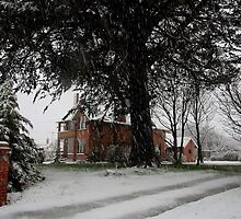 Trotter House in the Snow - Riverton NZ by ravensnatch
