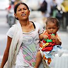 Mother & Child in Bali by Jenny Norris