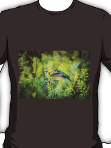 My Secret Garden, Green Violet Eared Hummingbird. T-Shirt