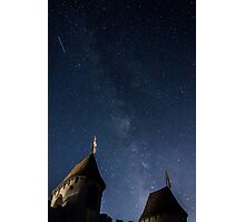 Milky Way over Castle Gate Photographic Print