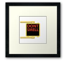 New York Crosswalk Sign Don't Smell Framed Print
