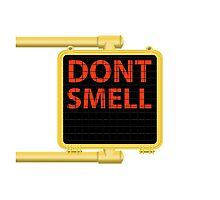 New York Crosswalk Sign Don't Smell Photographic Print