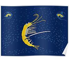 Krill Bill Samurai Crustacean Poster