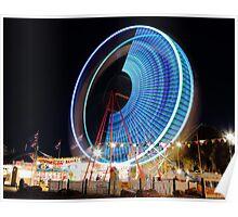 Neon Wheel - Rosebud Carnival Poster