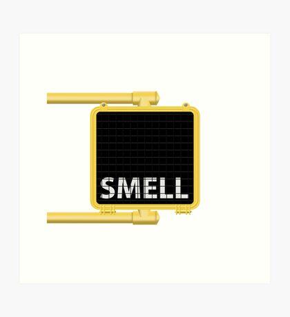 New York Crosswalk Sign Smell Art Print