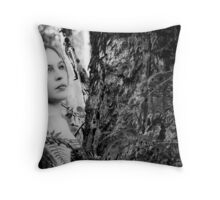 Silk And Leather Throw Pillow