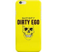 Satisfy Dirty Ego Skull Head Yellow Background iPhone Case/Skin