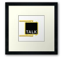 New York Crosswalk Sign Talk Framed Print