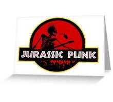 Jurrassic Punk Greeting Card