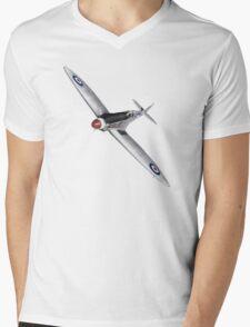Silver Spitfire PR Mk XIX Mens V-Neck T-Shirt