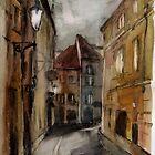 Prague street by Julia Shepeleva