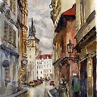 Street of Prague by Julia Shepeleva