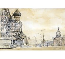 Red square in Moscow Photographic Print