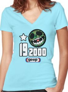 19-2000 Women's Fitted V-Neck T-Shirt