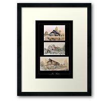 Russian village Framed Print
