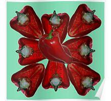 Capsicum Pattern Poster