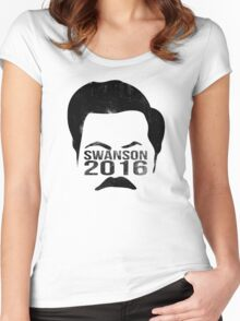 Swanson 2016 Distressed Women's Fitted Scoop T-Shirt