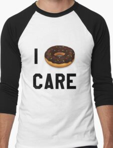I Donut Care Funny/Trendy/Girly/Hipster Emoji Meme  Men's Baseball ¾ T-Shirt