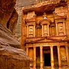The Treasury of Petra, Jordan by Clint Burkinshaw