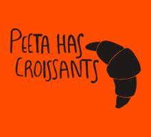 Peeta Has Croissants - Black by 4everYA