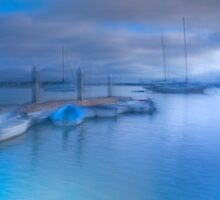 Blue Boat by Mark Wade