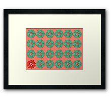 Orange scales Framed Print