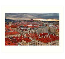 Prague roofs  Art Print