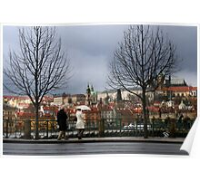 Rainy Prague Poster