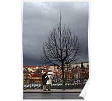 Rainy day in Prague Poster