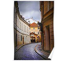 Small street of Prague Poster