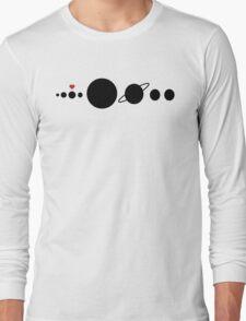 Solar System - I love planet Earth! Long Sleeve T-Shirt