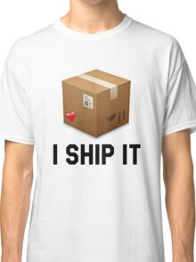 I Ship It Funny/Trendy/Hipster/Tumblr Emoji Meme Classic T-Shirt