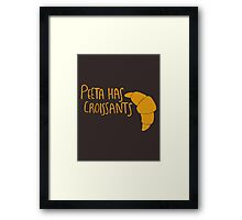 Peeta Has Croissants (Yellow Design) Framed Print