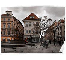 Prague square Poster