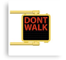 "New York Crosswalk Sign Don""t Walk Canvas Print"