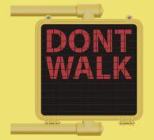 "New York Crosswalk Sign Don""t Walk Kids Tee"