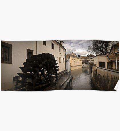Prague water canal Poster