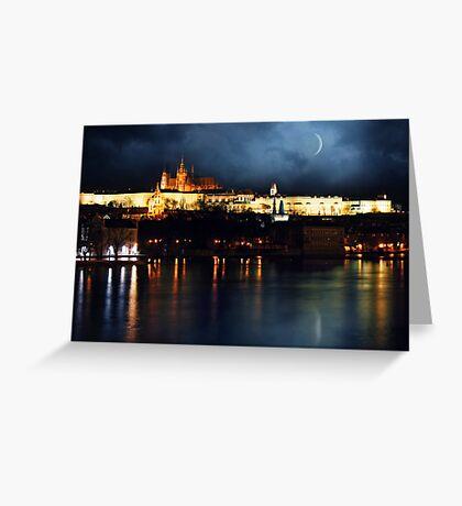 Prague night Greeting Card