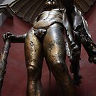 Golden statue in Vatican Museums by Joanne Plimmer