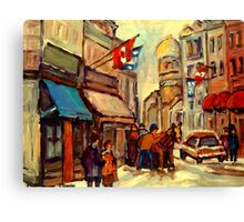 RUE ST. PAUL OLD MONTREAL Canvas Print