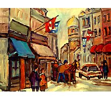 RUE ST. PAUL OLD MONTREAL Photographic Print