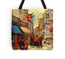 RUE ST. PAUL OLD MONTREAL Tote Bag
