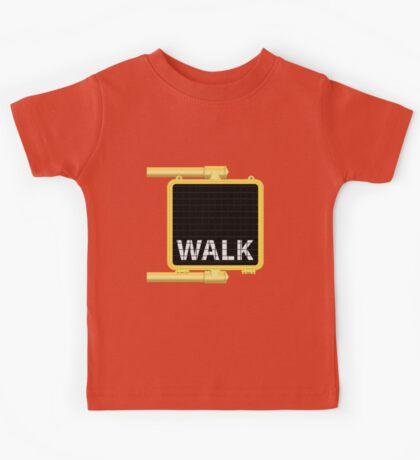 New York Crosswalk Sign Walk Kids Tee