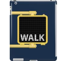 New York Crosswalk Sign Walk iPad Case/Skin