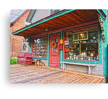 Colorful Antique Storefront Canvas Print